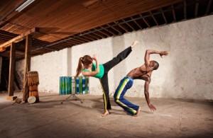 Capoeira fighting