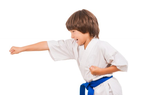 Judo punch child