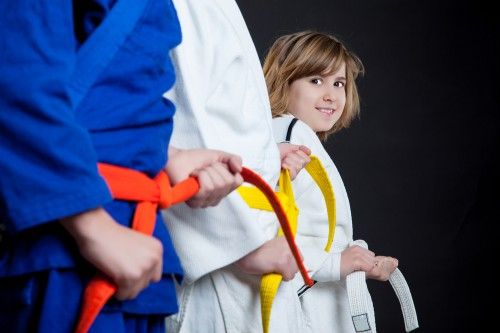 Judo yellow belt young girl