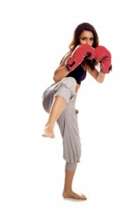 Kickboxing training and technique